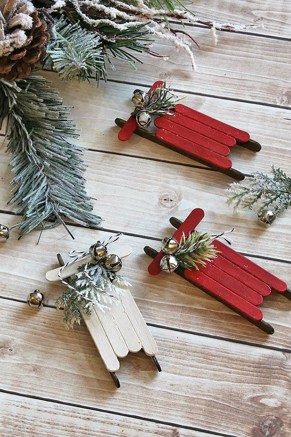 popsicle stick christmas ornament ideas