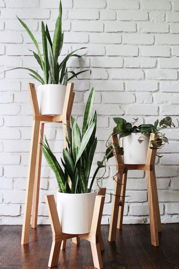 diy plant stand wood