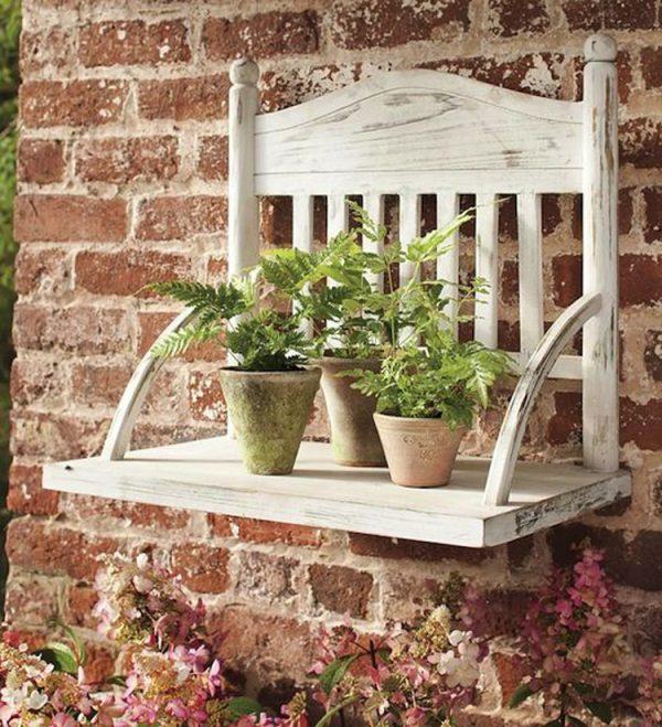 chairs hang on wall