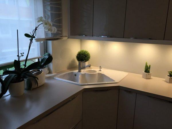 kitchen with corner sink