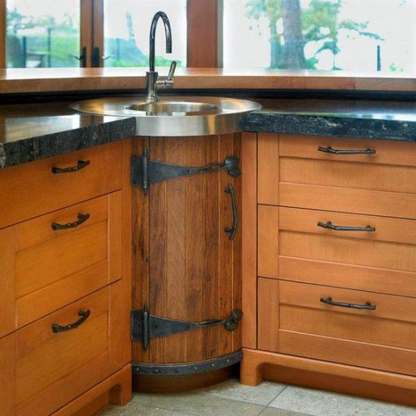 corner sink kitchen unit