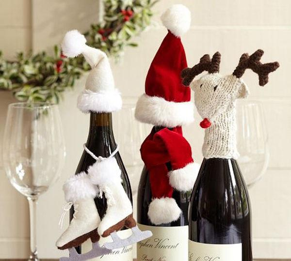 wine bottle christmas decor
