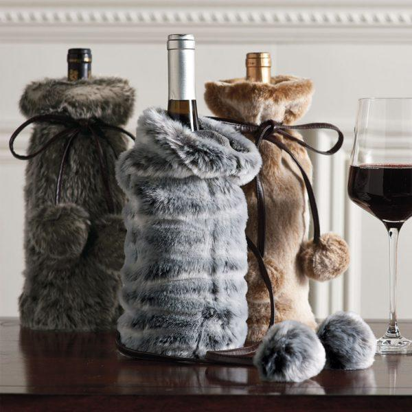 wine bottle covers for christmas
