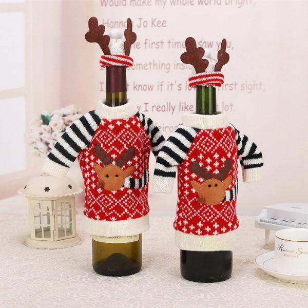 crochet christmas wine bottle cover pattern