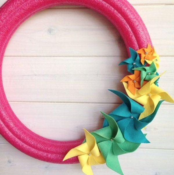 pool noodles christmas wreath