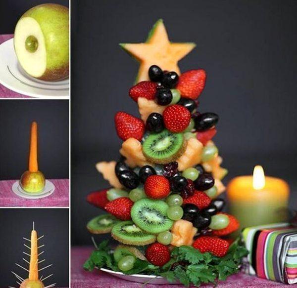 Christmas table food decoration