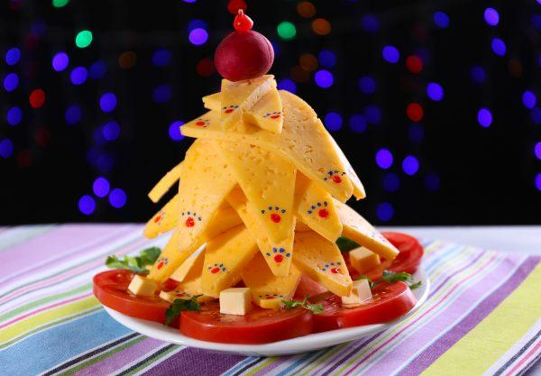 christmas decoration with food