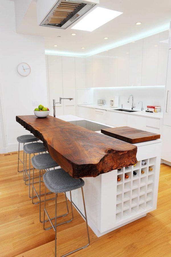kitchen island wood countertop