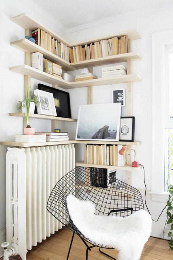 bookshelves corner ideas