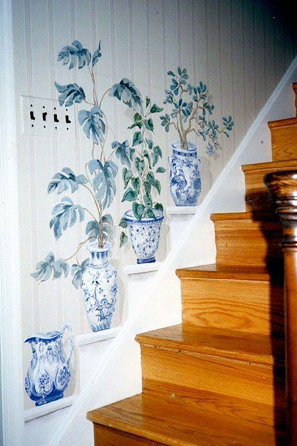 stairs wall painting ideas