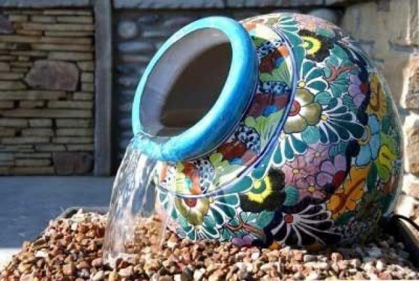 pottery outdoor fountains