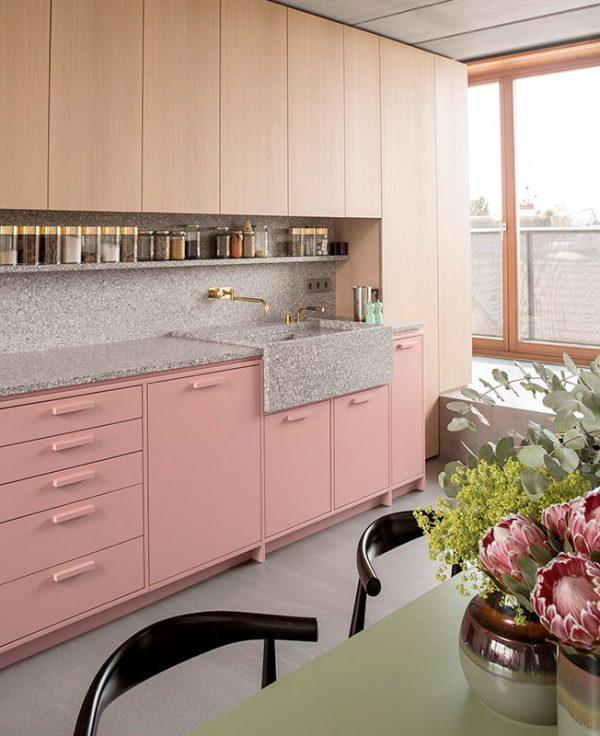 pink kitchen furniture