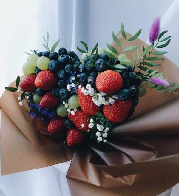 fruit bouquet for valentine's day