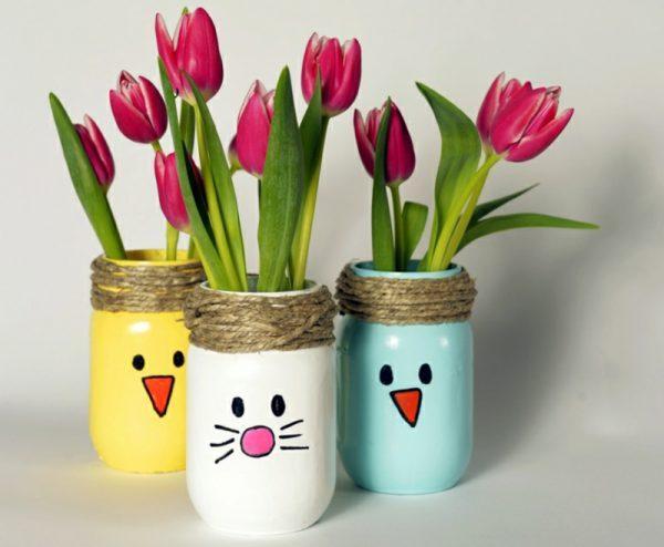 easter vases ideas
