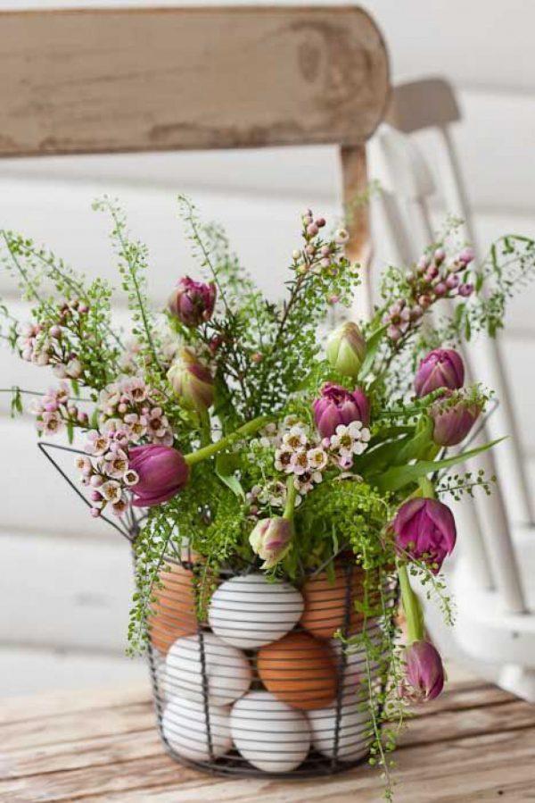 decorative easter eggs vase filler