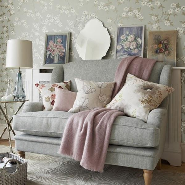 floral living room wallpaper