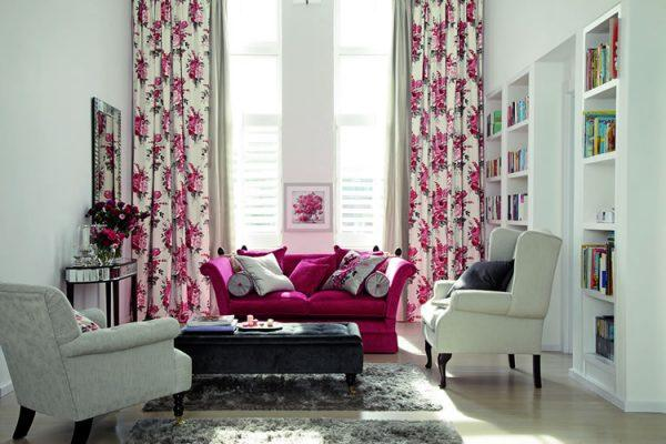 floral living room curtains