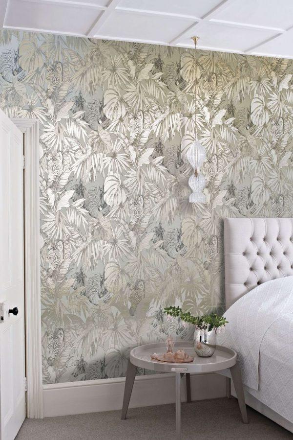 metallic wallpaper for bedrooms