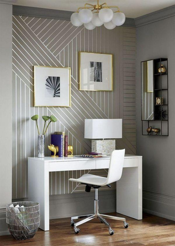 wallpaper with metallic accents