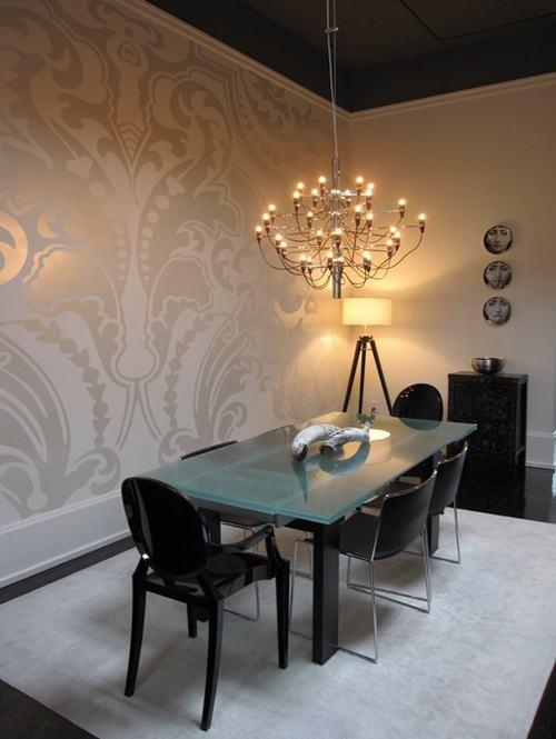 wallpaper with metallic designs