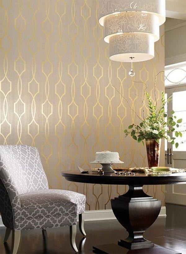 metallic pattern wallpaper