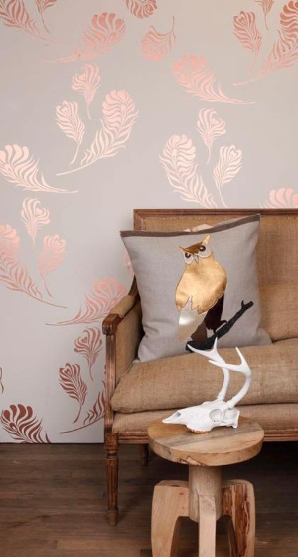 metallic accent wallpaper