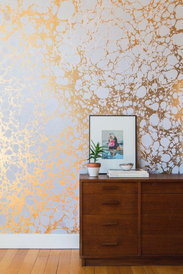 metallic wallpaper for walls