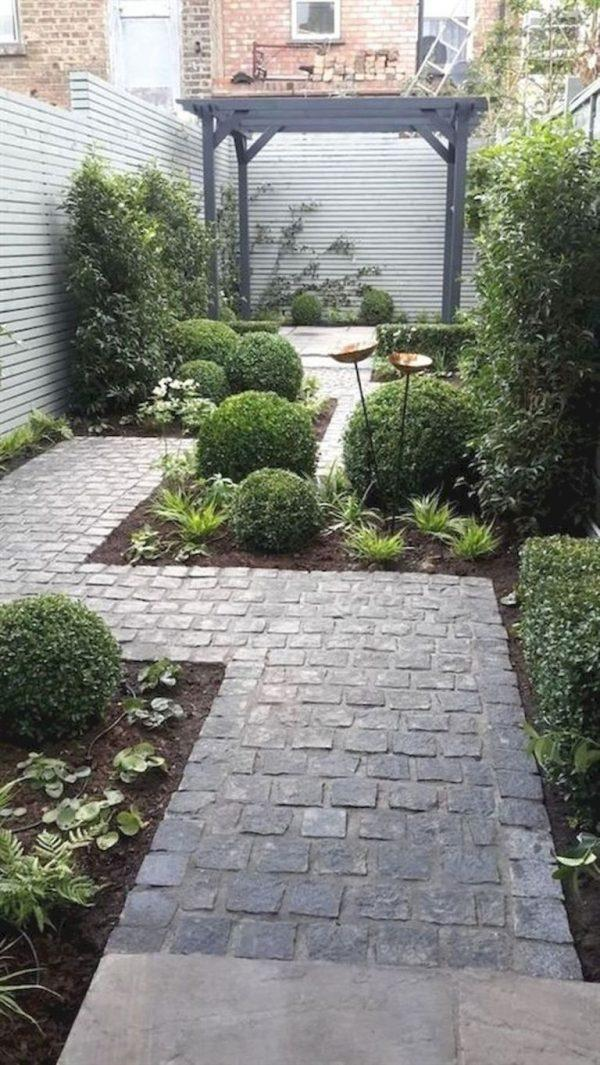 narrow long garden design