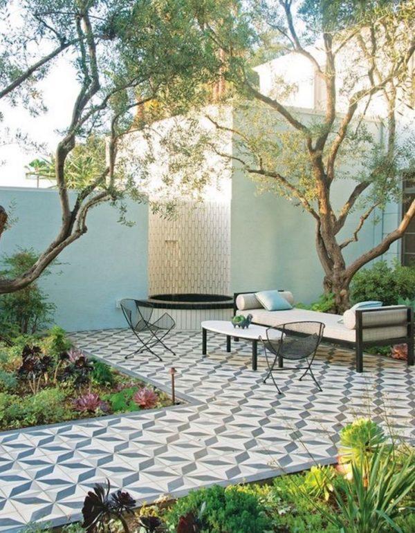Decorative garden tiles