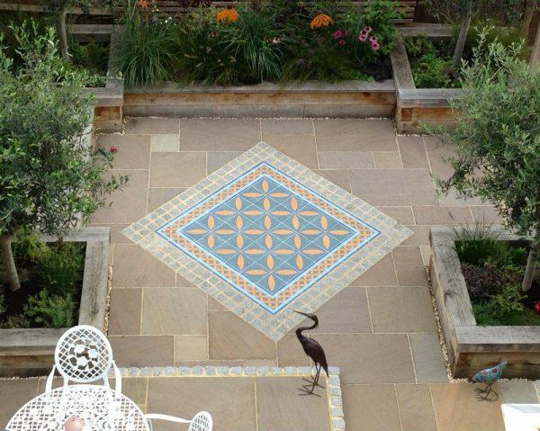 garden floor tiles texture