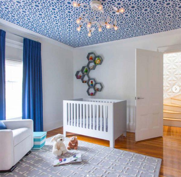 wallpaper ceiling nursery