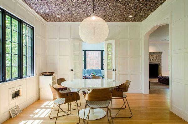 wallpaper ceiling dining room