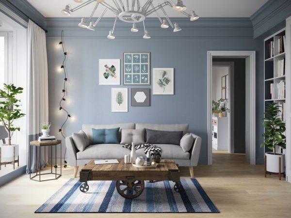 living room color schemes blue