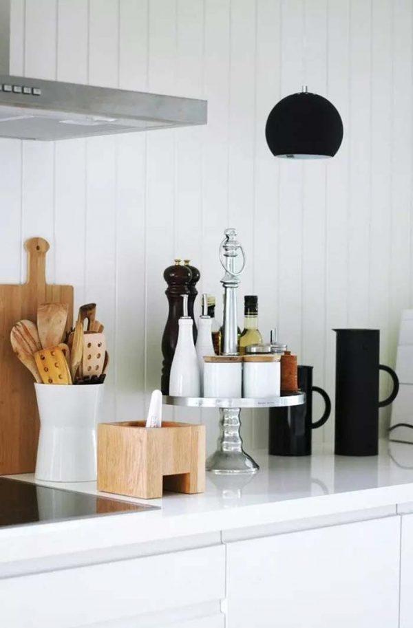 Kitchen organization countertops