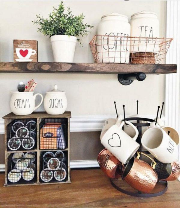 small kitchen countertop organization ideas