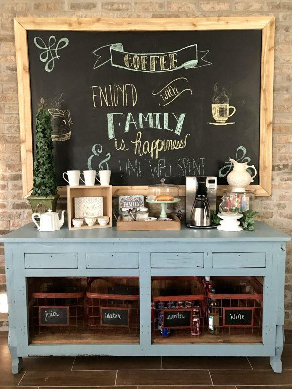 rustic coffee station ideas