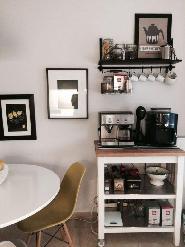 coffee stations in kitchens
