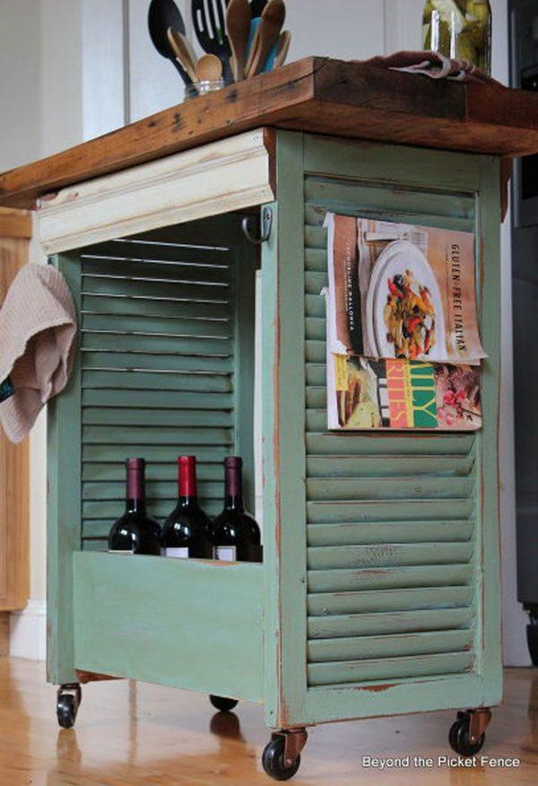 ideas for repurposing old shutters