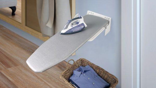 wall ironing board holder