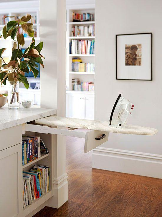 built in ironing board drawer
