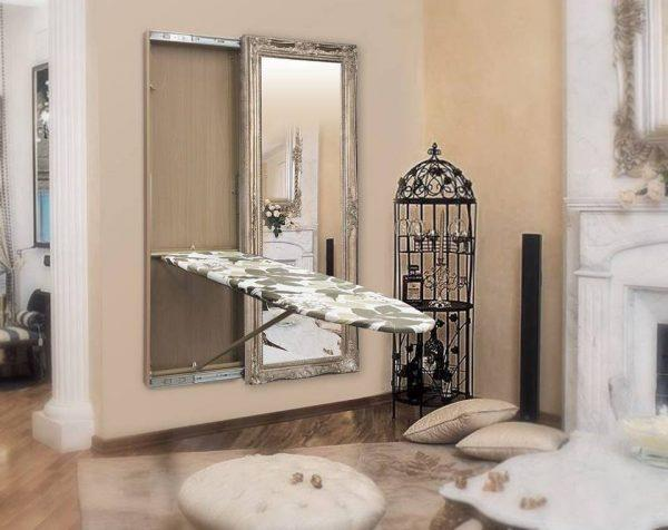 built in wall ironing board