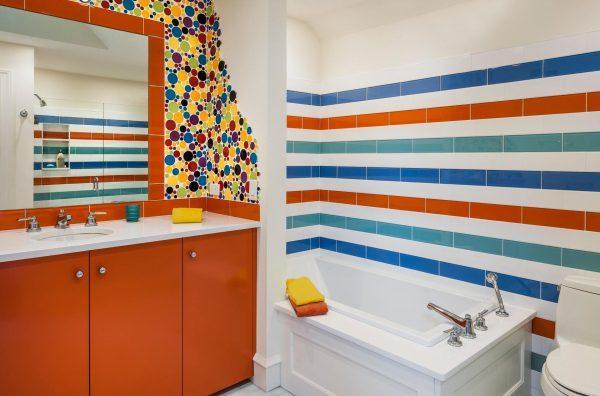 paint ceramic tiles in bathroom