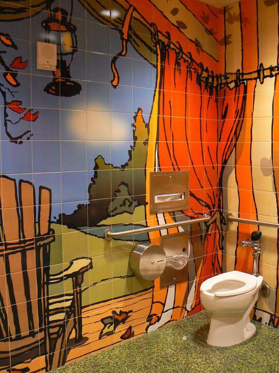 painting ceramic wall tiles in bathroom