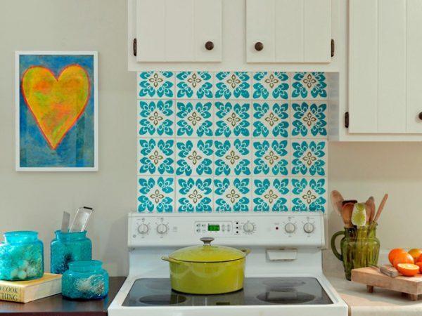 paint ceramic tiles in kitchen