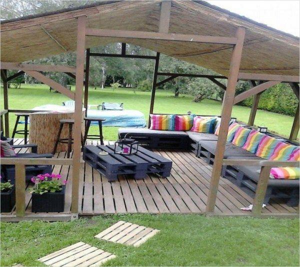 wooden pallet deck ideas