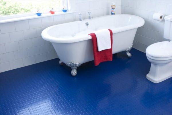 non slip rubber bathroom flooring