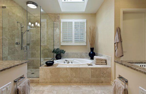 stone bathroom flooring