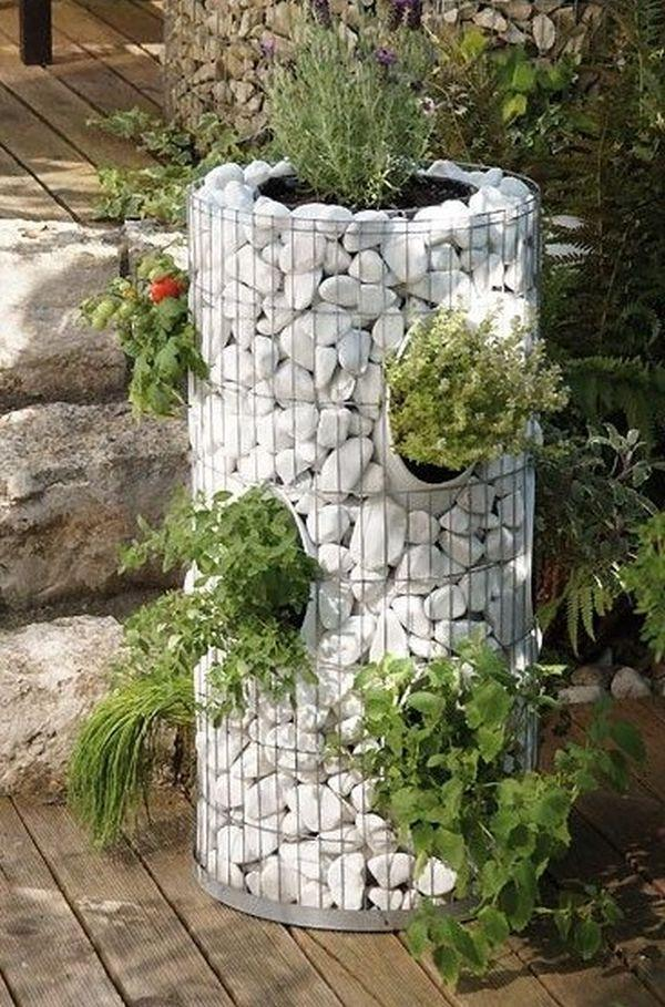 gabion flower planter