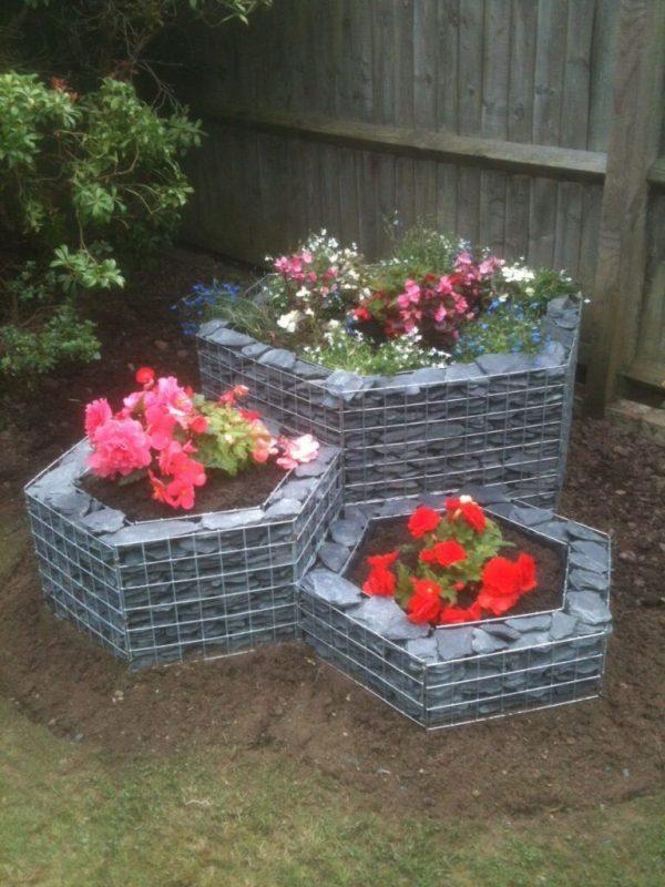 gabion planter ideas