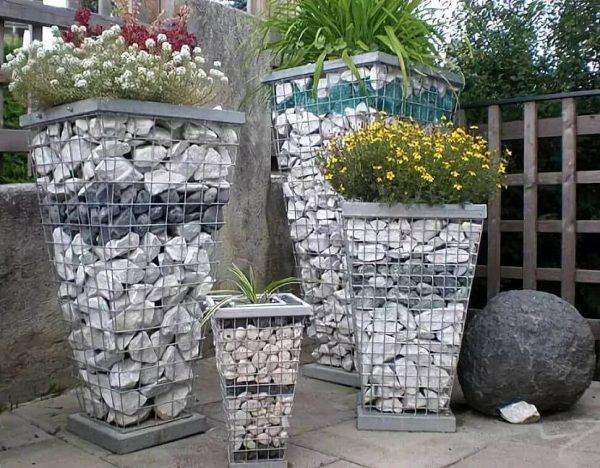 gabion planter baskets
